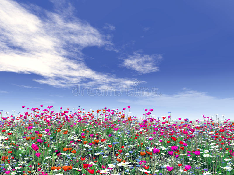 όμορφα λουλούδια διανυσματική απεικόνιση