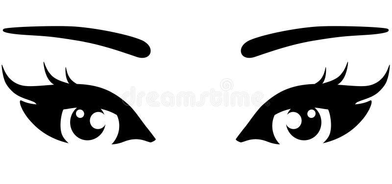 Όμορφα μάτια γυναικών ελεύθερη απεικόνιση δικαιώματος