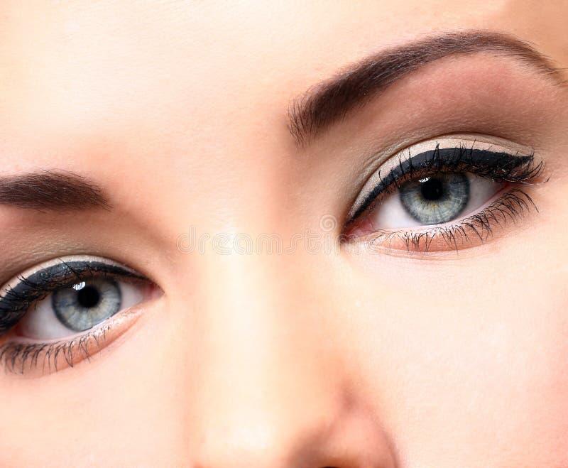 Όμορφα μάτια με το makeup στοκ φωτογραφίες
