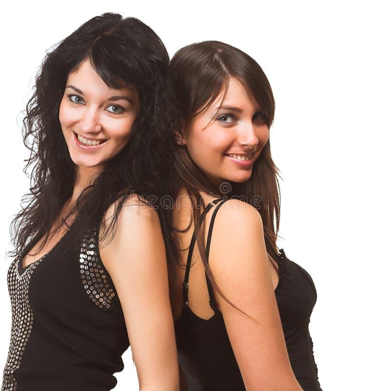 όμορφα μοντέλα δύο στοκ φωτογραφίες με δικαίωμα ελεύθερης χρήσης