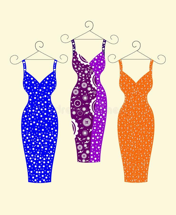 Όμορφα μοντέρνα φορέματα για τις γυναίκες απεικόνιση αποθεμάτων