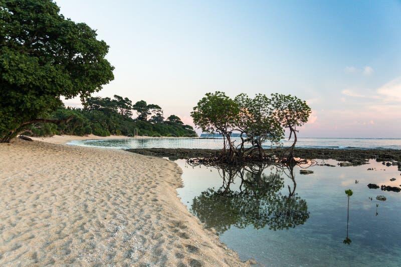 Όμορφα νησί ηλιοβασιλέματος, Andaman και Nicobar, Ινδία στοκ φωτογραφία με δικαίωμα ελεύθερης χρήσης
