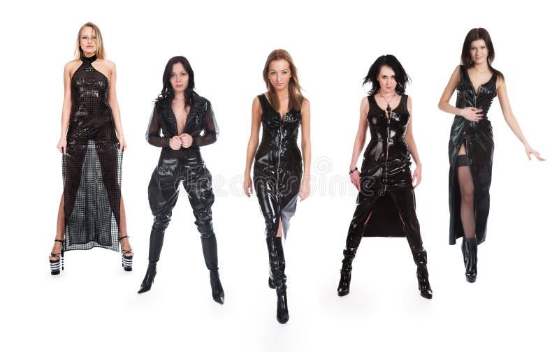 όμορφα πέντε κορίτσια στοκ φωτογραφία με δικαίωμα ελεύθερης χρήσης