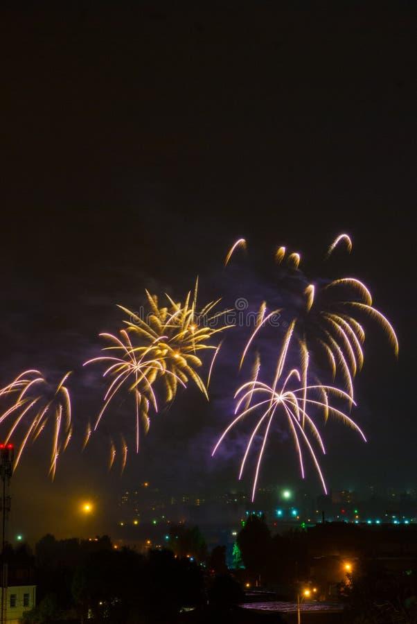 όμορφα πυροτεχνήματα στοκ εικόνες
