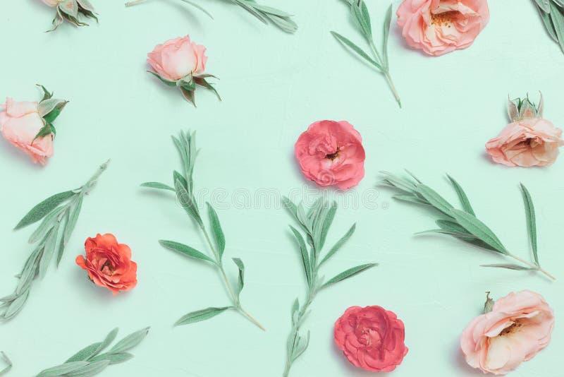 Όμορφα ρόδινα κεφάλια τριαντάφυλλων στο ρόδινο υπόβαθρο στοκ φωτογραφία με δικαίωμα ελεύθερης χρήσης