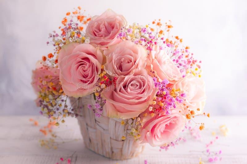 όμορφα ρόδινα τριαντάφυλλ&alp στοκ φωτογραφίες