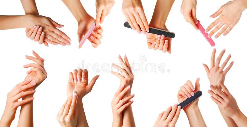 Όμορφα χέρια καθορισμένα στοκ εικόνες