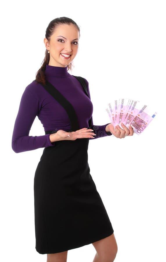 Download όμορφα χρήματα που δείχνο&upsi Στοκ Εικόνα - εικόνα από πορτρέτο, leisure: 17059793