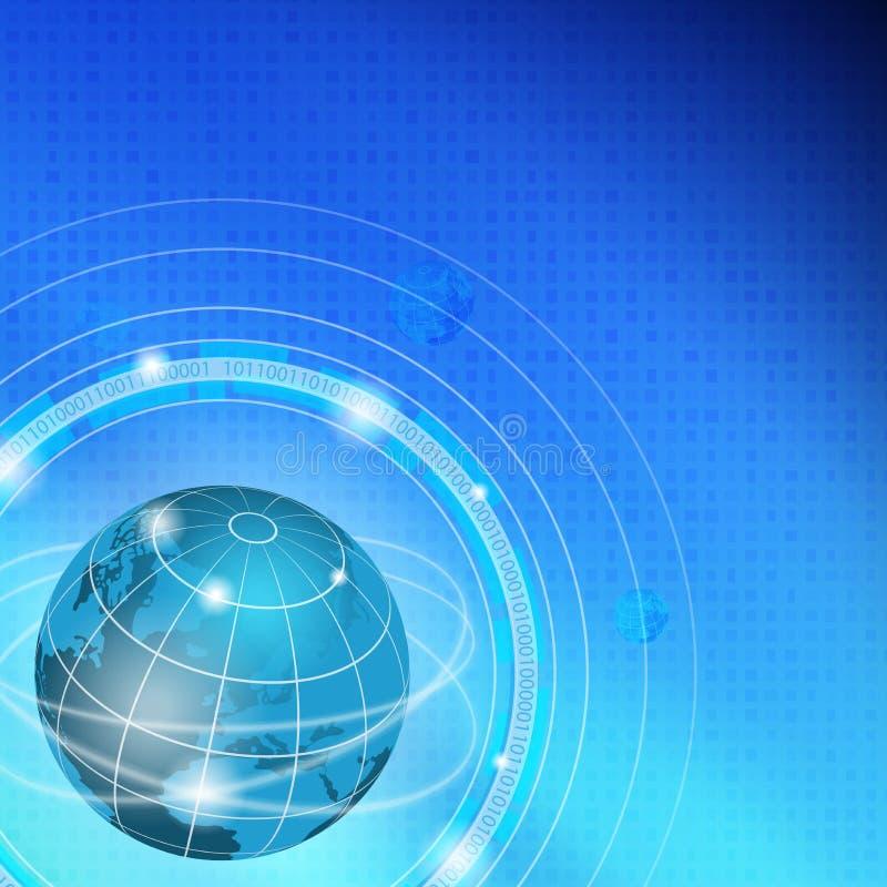 Όμορφα χρώματα υποβάθρου παγκόσμιας τεχνολογίας Cyber διανυσματική απεικόνιση