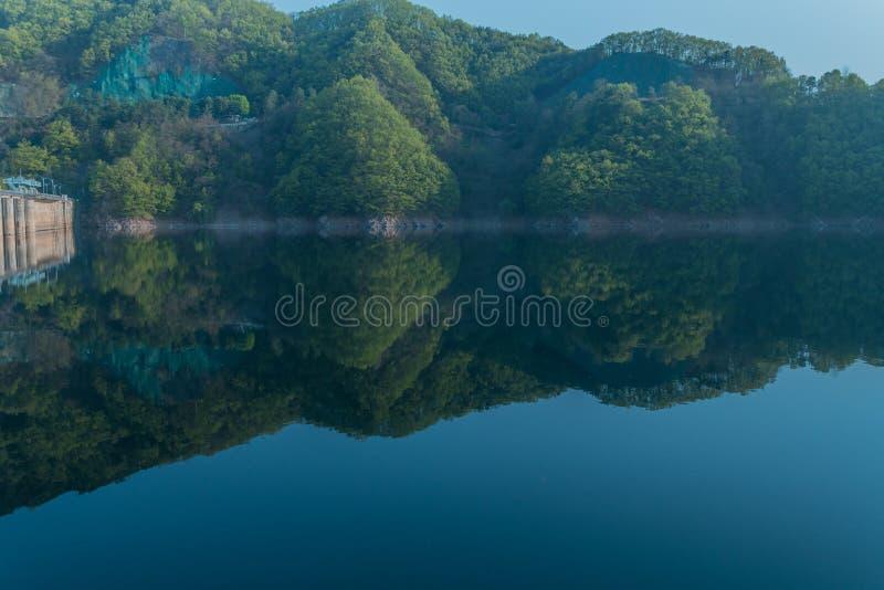 Όμορφες αντανακλάσεις στην τοπική λίμνη περιοχής στοκ φωτογραφίες με δικαίωμα ελεύθερης χρήσης