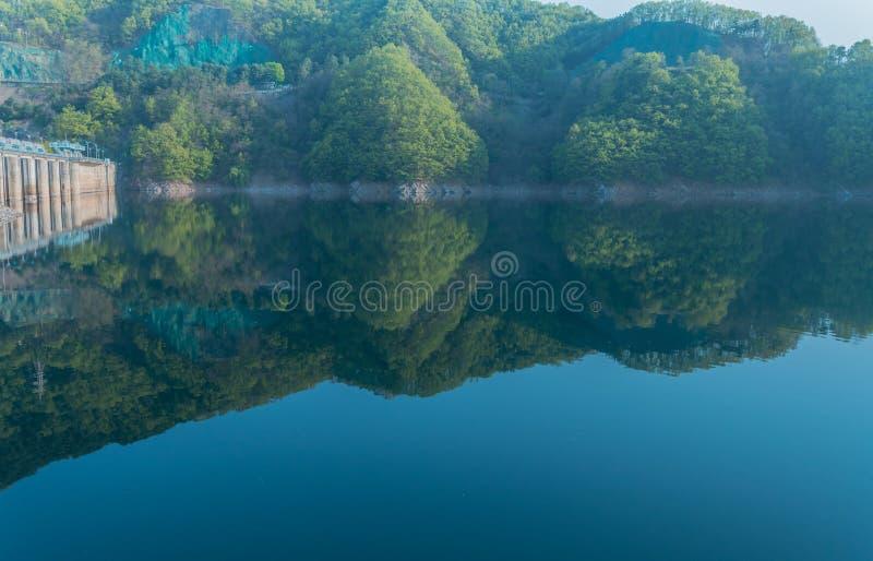Όμορφες αντανακλάσεις στην τοπική λίμνη περιοχής στοκ φωτογραφία με δικαίωμα ελεύθερης χρήσης