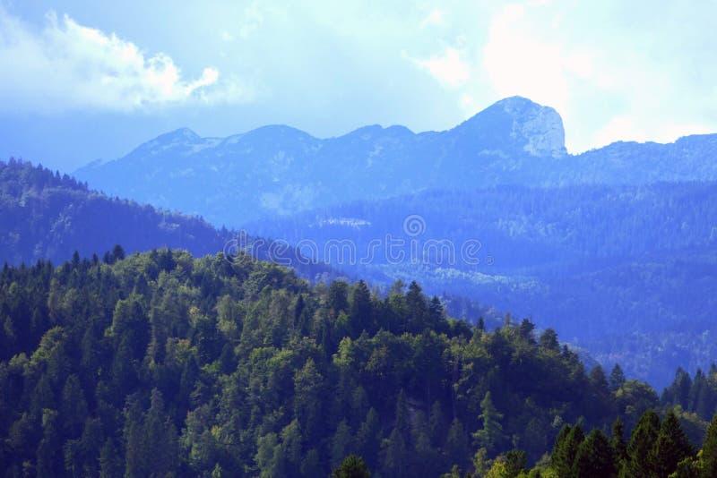 Όμορφες απόψεις των ιουλιανών Άλπεων από τη Σλοβενία, Ευρώπη στοκ φωτογραφία