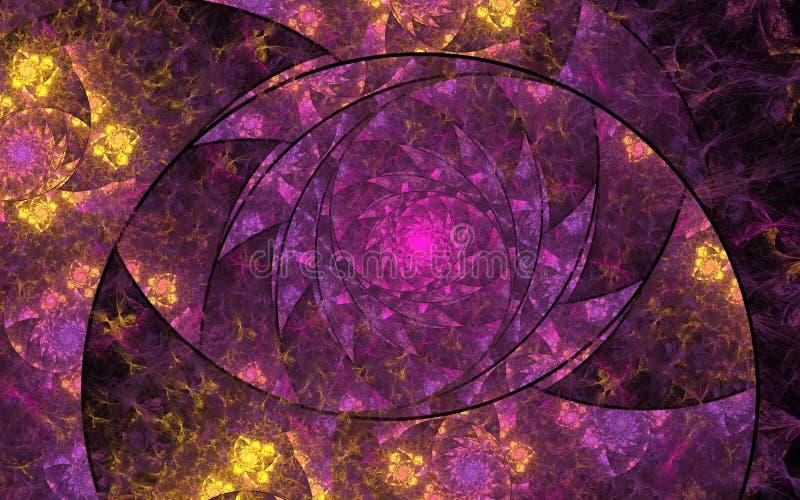 Όμορφες αφηρημένες fractal λουλούδια και σπείρες ελεύθερη απεικόνιση δικαιώματος