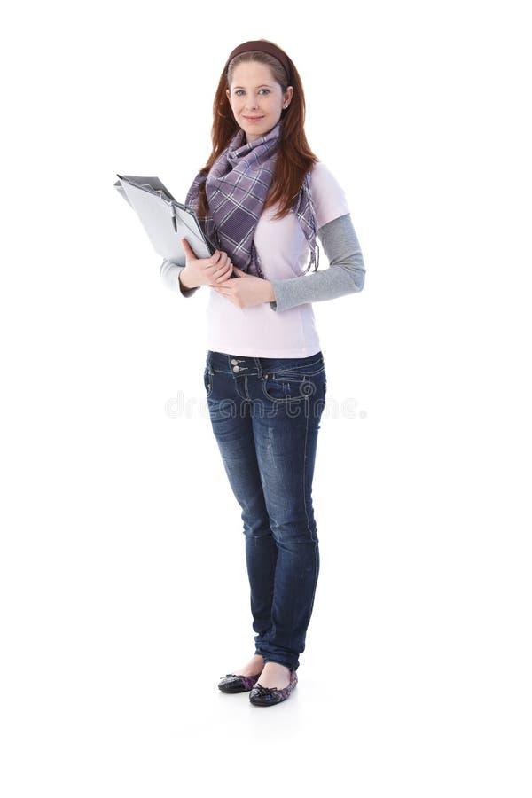 Όμορφες γραμματοθήκες εκμετάλλευσης σπουδαστών στοκ εικόνες