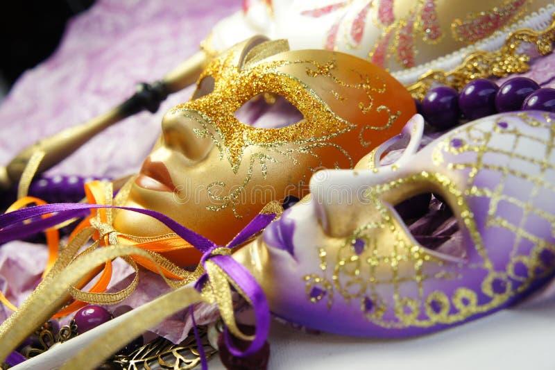 Όμορφες ενετικές μάσκες καρναβαλιού στοκ φωτογραφία με δικαίωμα ελεύθερης χρήσης