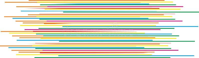 Όμορφες ζωηρόχρωμες οριζόντιες γραμμές απεικόνιση αποθεμάτων