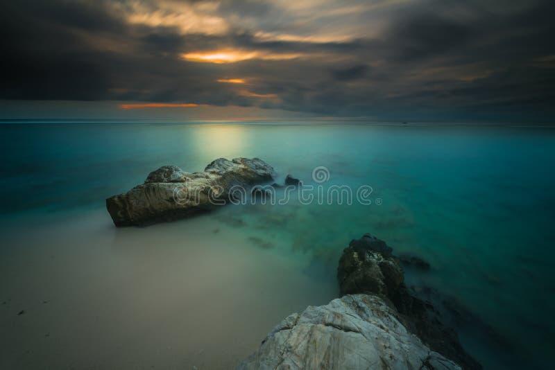 Όμορφες ηλιοβασίλεμα και ανατολή από το νησί mentawai στοκ φωτογραφία