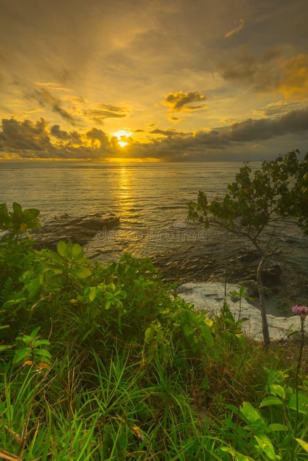 Όμορφες ηλιοβασίλεμα και ανατολή από το νησί mentawai στοκ εικόνα με δικαίωμα ελεύθερης χρήσης