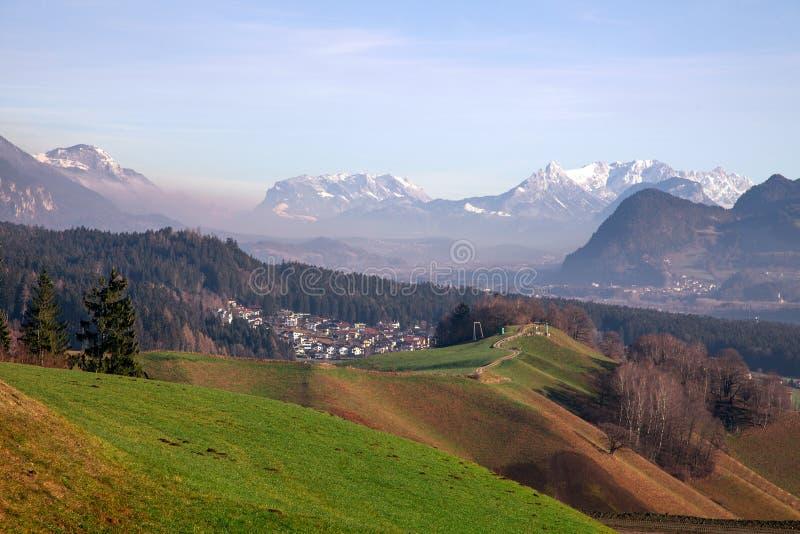 Όμορφες θέες βουνού από Maurach, Αυστρία στοκ φωτογραφίες