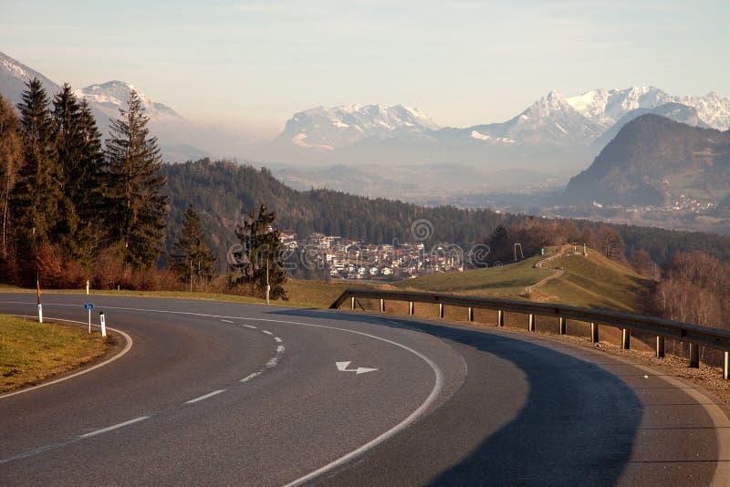 Όμορφες θέες βουνού από Maurach, Αυστρία στοκ εικόνες με δικαίωμα ελεύθερης χρήσης