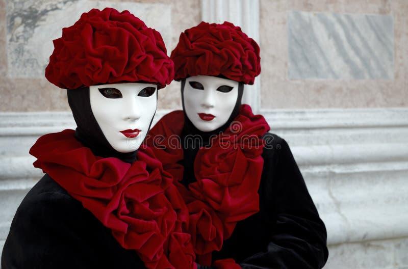 όμορφες θηλυκές μάσκες στοκ εικόνα