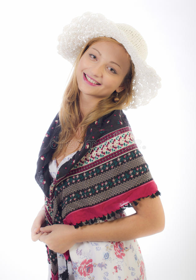 όμορφες λευκές νεολαί&epsilo στοκ εικόνα