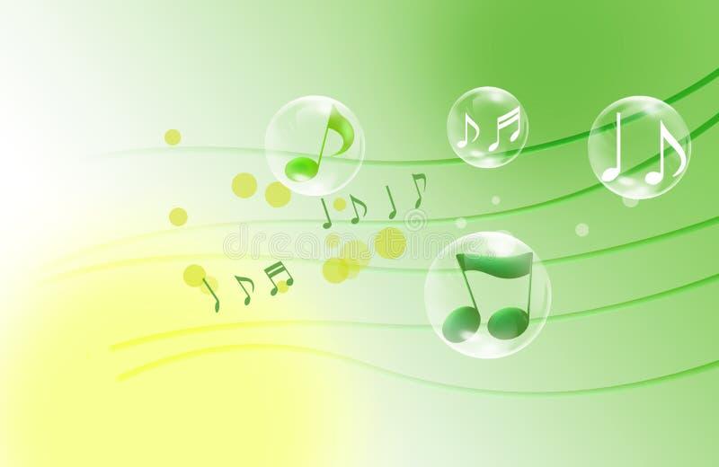 όμορφες μουσικές νότες απεικόνιση αποθεμάτων