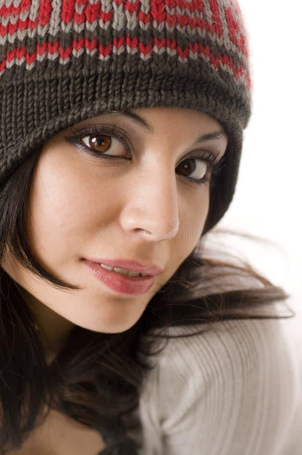 όμορφες νεολαίες γυναικών πορτρέτου στοκ φωτογραφία