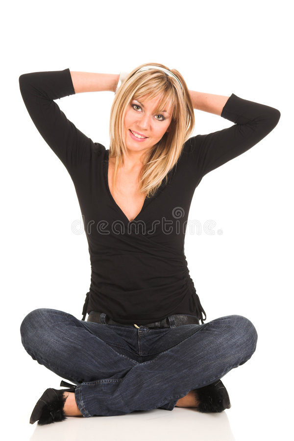 Download όμορφες νεολαίες γυναικών στοκ εικόνες. εικόνα από έκφραση - 1535990