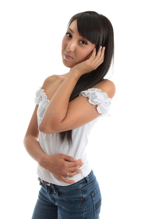όμορφες νεολαίες γυναι στοκ φωτογραφία