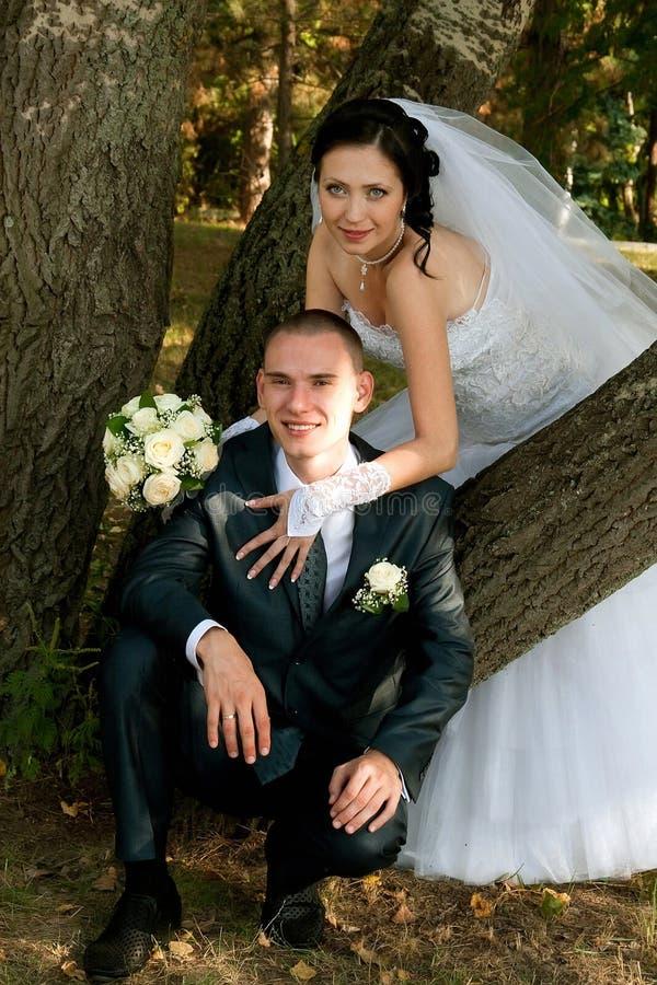 όμορφες νεολαίες ζευγαριού στοκ εικόνα