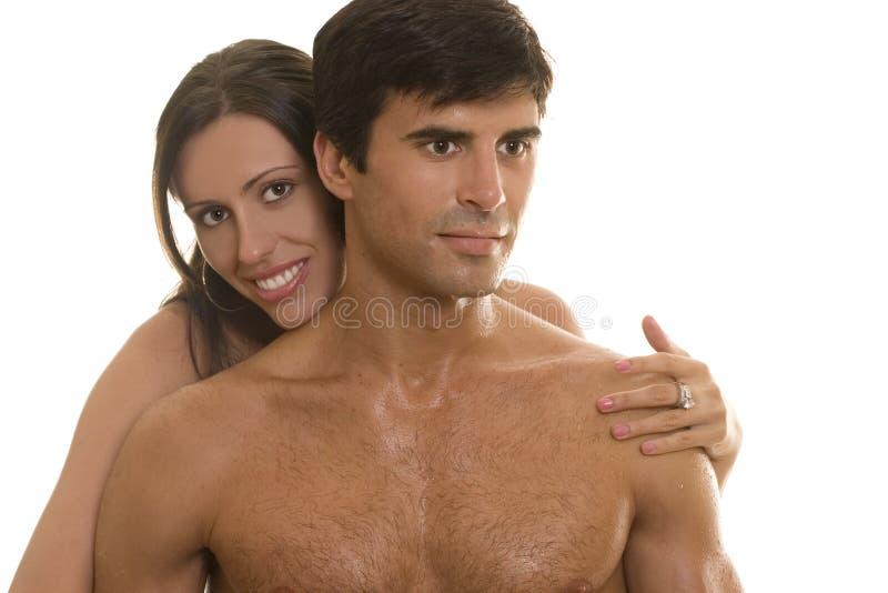 όμορφες νεολαίες ζευγώ στοκ φωτογραφία