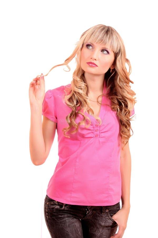 όμορφες ξανθές απομονωμέν&ep στοκ εικόνες με δικαίωμα ελεύθερης χρήσης
