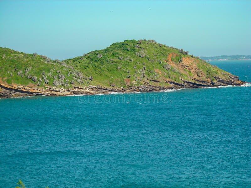 Όμορφες παραλίες στο νότο της ωκεάνειας ακτής της Αμερικής της Βραζιλίας στοκ φωτογραφίες με δικαίωμα ελεύθερης χρήσης