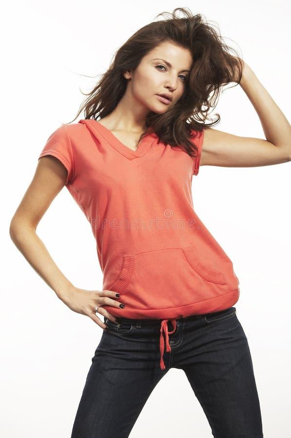 όμορφες πρότυπες νεολαίες μόδας στοκ φωτογραφία με δικαίωμα ελεύθερης χρήσης
