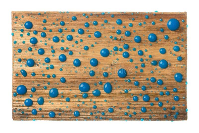 Όμορφες πτώσεις του μπλε χρώματος σε ένα ξύλινο πλαίσιο φιαγμένο από ξύλο η ανασκόπηση απομόνωσε το λευκό στοκ εικόνες