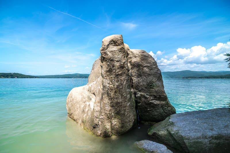 Όμορφες σκηνές τοπίων στη νότια Καρολίνα jocassee λιμνών στοκ φωτογραφίες