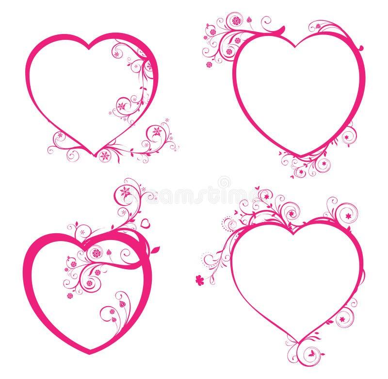 όμορφες τέσσερις καρδιέ&sigma ελεύθερη απεικόνιση δικαιώματος
