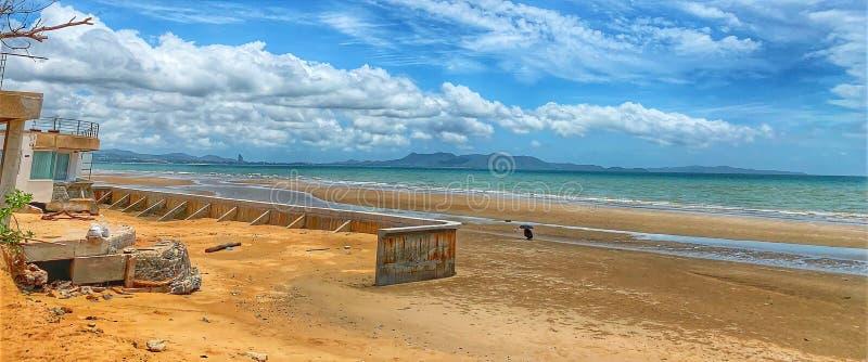 Όμορφες όψεις της παραλίας και της τροπικής θάλασσας Ο ουρανός και το λευκό Juan Summer Asia Travel Idea στοκ εικόνα