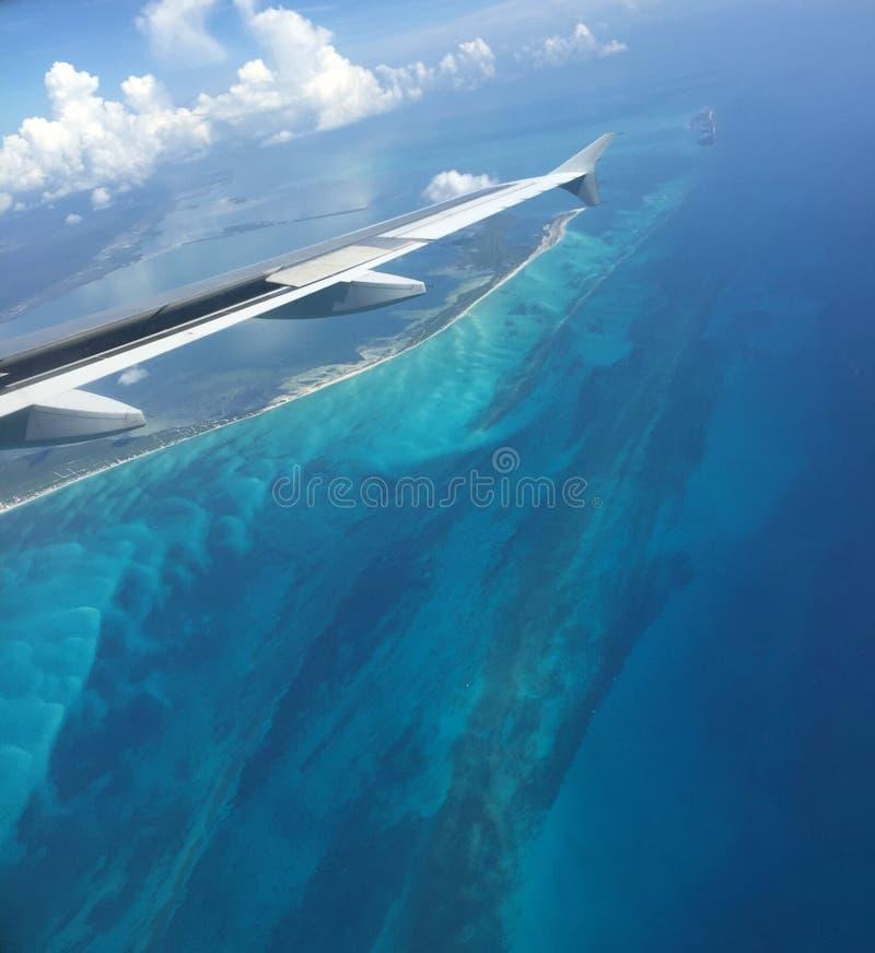 Όμορφη άποψη αεροπλάνων στοκ φωτογραφία