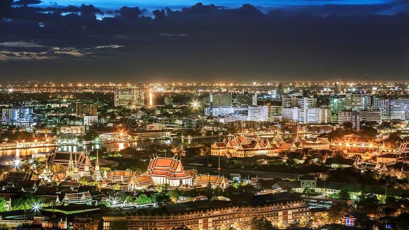 Όμορφη άποψη ηλιοβασιλέματος, Ταϊλάνδη στοκ εικόνες