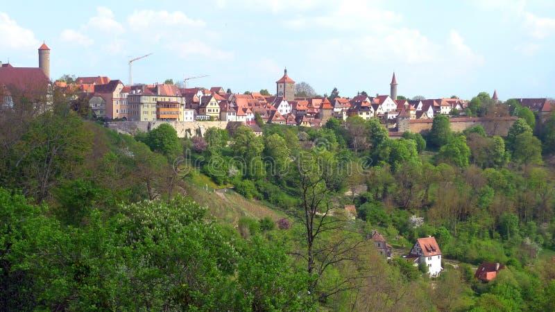 Όμορφη άποψη σε Rothenburg στοκ εικόνες