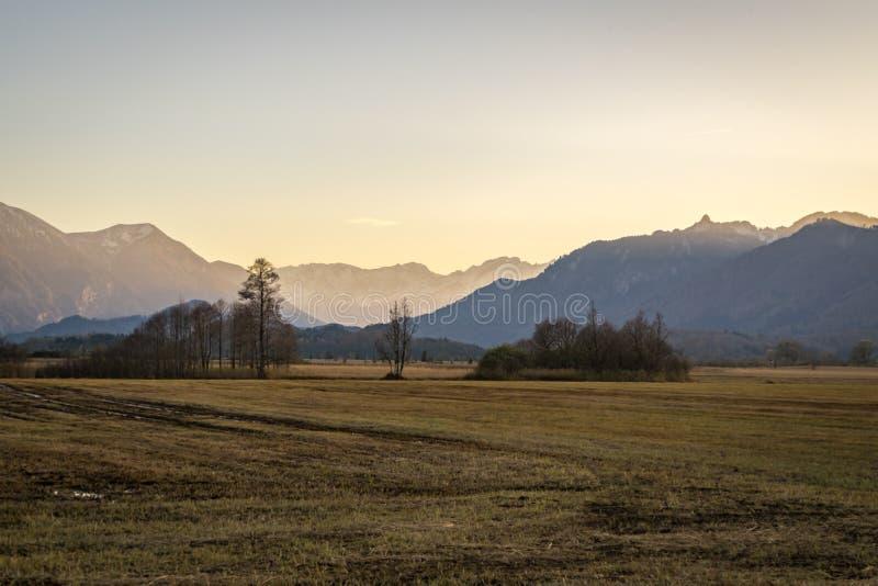 Όμορφη άποψη στα μουγκρητά Murnauer στη Βαυαρία στοκ εικόνες με δικαίωμα ελεύθερης χρήσης