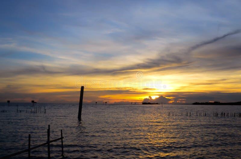 Όμορφη άποψη Ταϊλάνδη ηλιοβασιλέματος στοκ εικόνες με δικαίωμα ελεύθερης χρήσης