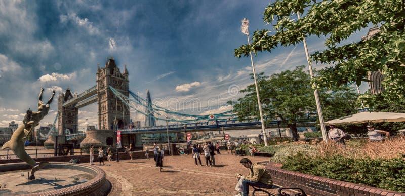 Όμορφη άποψη της γέφυρας πύργων στο Λονδίνο, UK στοκ εικόνες με δικαίωμα ελεύθερης χρήσης