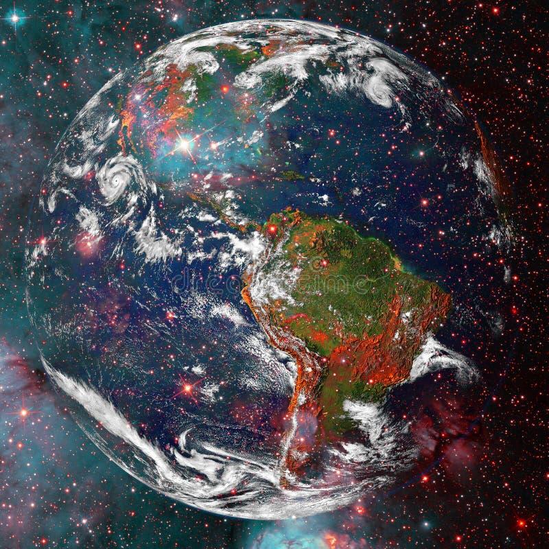 Όμορφη άποψη της γης από το διάστημα r διανυσματική απεικόνιση