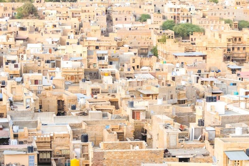 Όμορφη άποψη της εικονικής παράστασης πόλης Jaisalmer στοκ εικόνες
