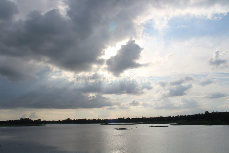 Όμορφη άποψη της πλευράς gazipur pubail στοκ εικόνες