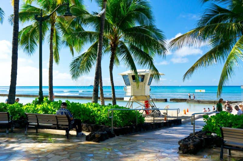 Όμορφη άποψη της Χονολουλού, Χαβάη στοκ εικόνες
