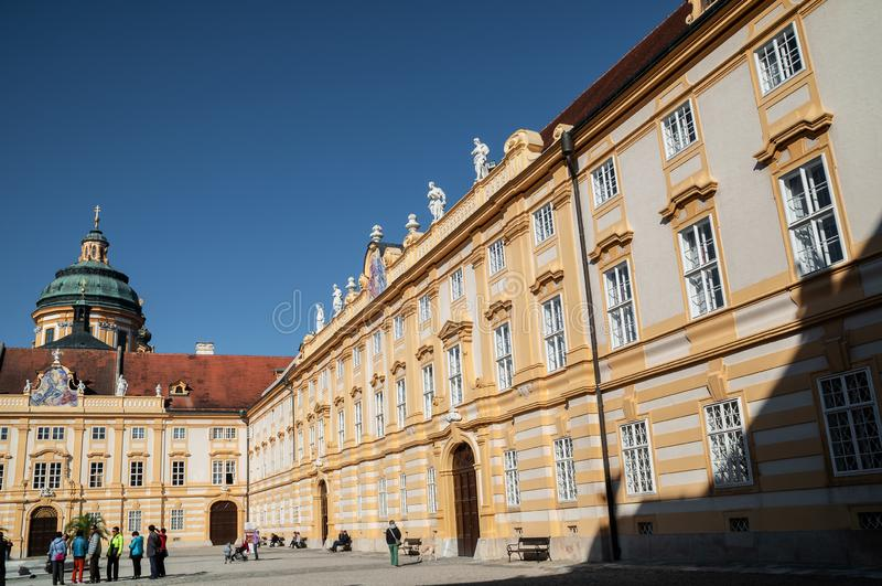 Όμορφη άποψη του αβαείου Stift Melk Melk στοκ φωτογραφία με δικαίωμα ελεύθερης χρήσης